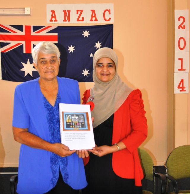 A publication presented by Janeth Deen from the QLD Muslim Historical Society.