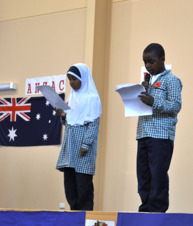 Speeches by Year 3s about ANZAC day.
